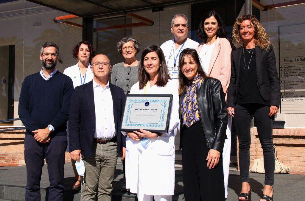 El Servei de Reumatologia del Parc Taulí ha rebut la certificació avançada de qualitat en el maneig de l'espondiloartritis axial